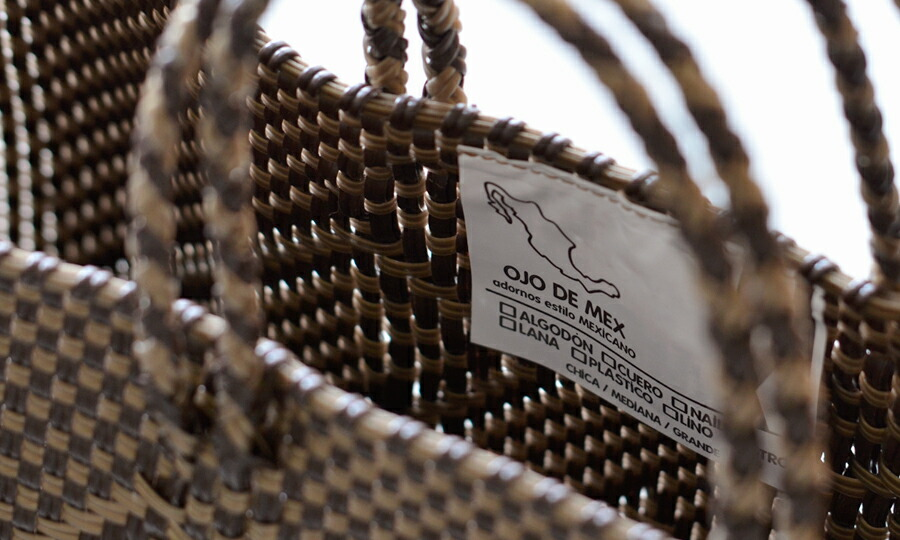 OJO DE MEX(オホ デ メックス) チャーム付きメキシカンバスケット