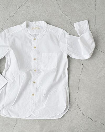 RINEN(リネン)100/2ブロードコットンスタンドカラーシャツ 36011
