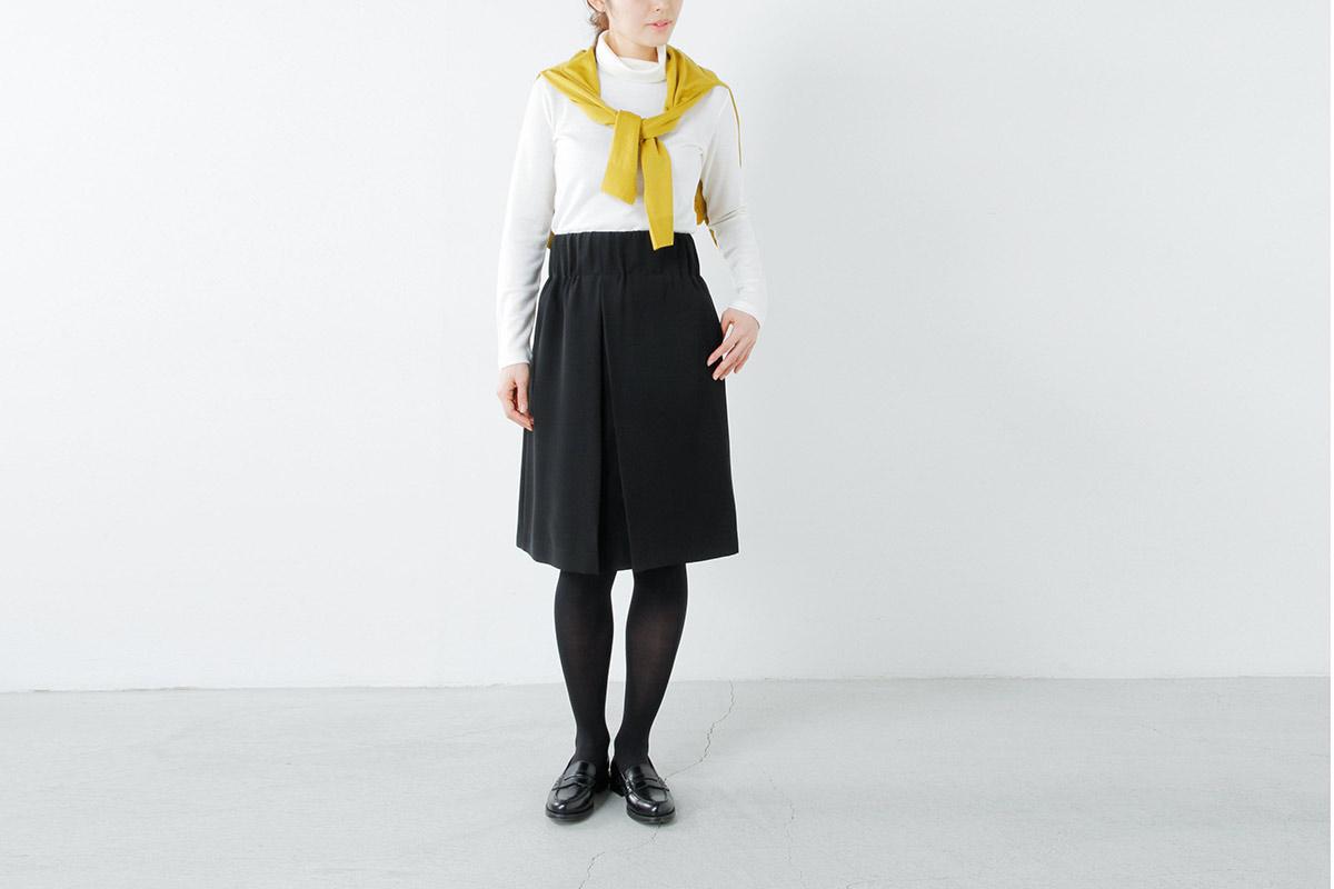 Si-Si-Si(スースースー) aranciato別注とろみウエスト太ゴムスカート