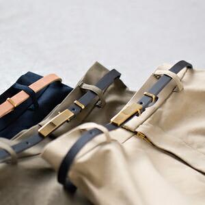Portcros ベルト付きウォッシャブルフレアロングスカート