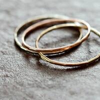 Melissa Joy Manning(メリッサ・ジョイ・マニング)<br>14kt gold stacking rings 120223-melissa