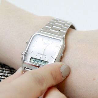 CASIO(カシオ) アナデジ デュアルタイム 腕時計 aq-230a