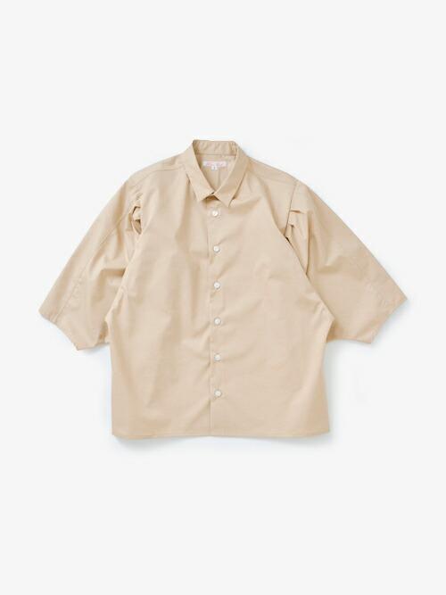 HAVERSACK140/2高密度ツイルコットンボリュームスリーブシャツ 621802
