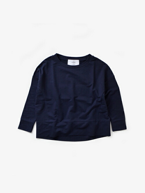 utilite(ユティリテ)<br>ミニ裏毛コットン9分袖プルオーバー uts1707-041