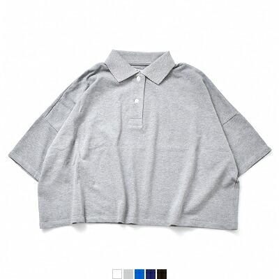 DIARIES(ダイアリーズ) 鹿の子コットンワイドポロシャツ w111715