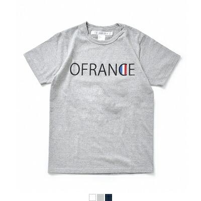 """EEL(イール) コットンプリントTシャツ""""OFRANCE"""" e-17539"""