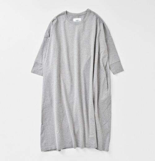 universal tissu(ユニヴァーサルティシュ) aranciato別注 ビッグワイド長袖コットンワンピース ut171ct050
