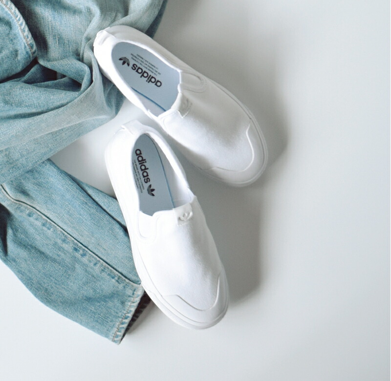 "adidas Originals(アディダス オリジナルス)<br>キャンバスアッパースリッポンシューズ""NIZZA SLIPON W"" nizza-slipon-w-adidas"