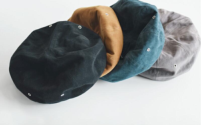 """halo commodity(ハロ コモディティー)<br>エコスエードベレー帽""""Parker Beret"""" h183-502"""