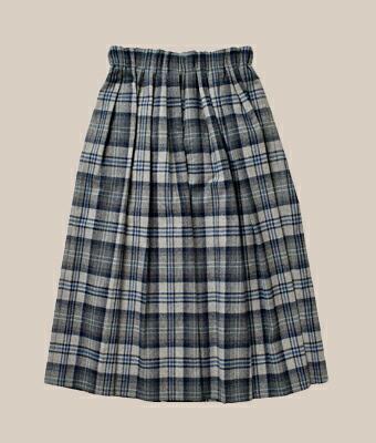 O'NEIL OF DUBLIN(オニールオブダブリン) aranciato別注ウールブレンドタックチェックロングスカート s26582
