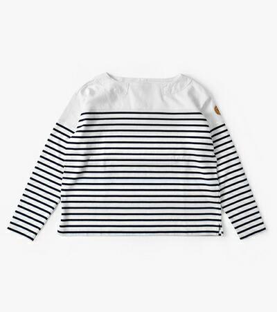 NIGEL CABOURN(ナイジェルケーボン) ライフボートネックバスクシャツ 8039-08-20000