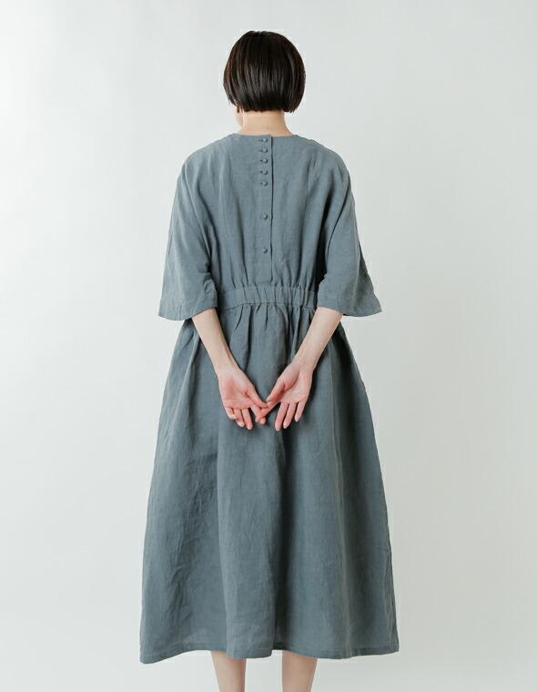 MAGALI(マガリ)<br>スラブリネンギャザーワンピース op159 【倉庫用リンク】