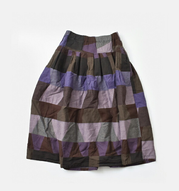 MICA&DEAL(マイカアンドディール)<br>tumugu(ツムグ)<br>幾何学柄ジャガードコットンスカート tb21335