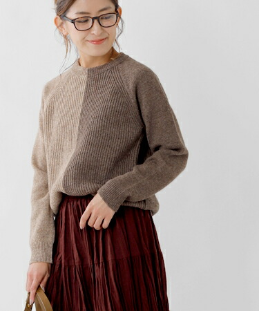 "soglia(ソリア) ラグランスリーブウールセーター""LERWICK Sweater"" lerwick-sweater"