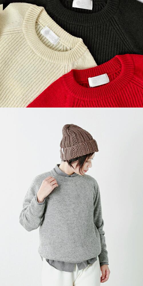 "soglia(ソリア)<br>ラグランスリーブウールセーター""LERWICK Sweater"" lerwick-sweater"