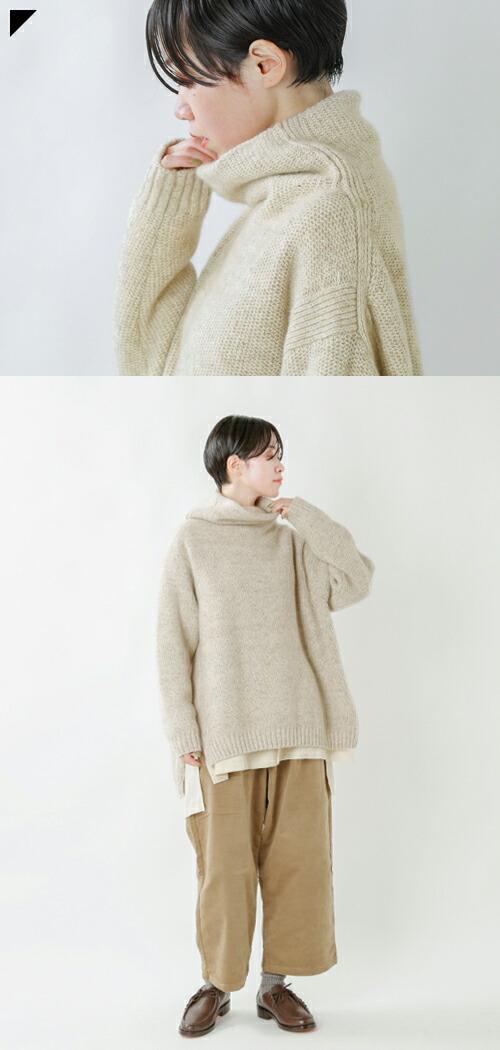 unfil(アンフィル)<br>カシミヤネップオーバーサイズセーター wzfl-uw126