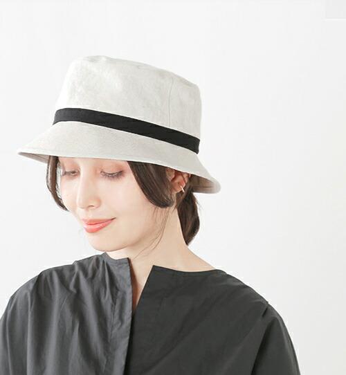 Chapeaugraphy(シャポーグラフィー)<br>aranciato別注 綿麻シャンブレーバケットハット 021o