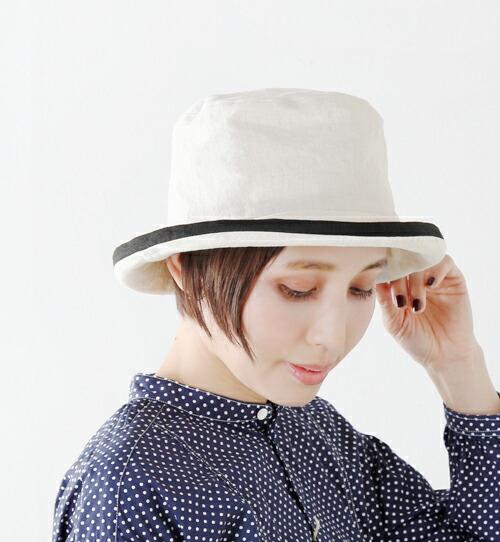 Chapeaugraphy(シャポーグラフィー)<br>綿麻シャンブレーソフトハット 048o