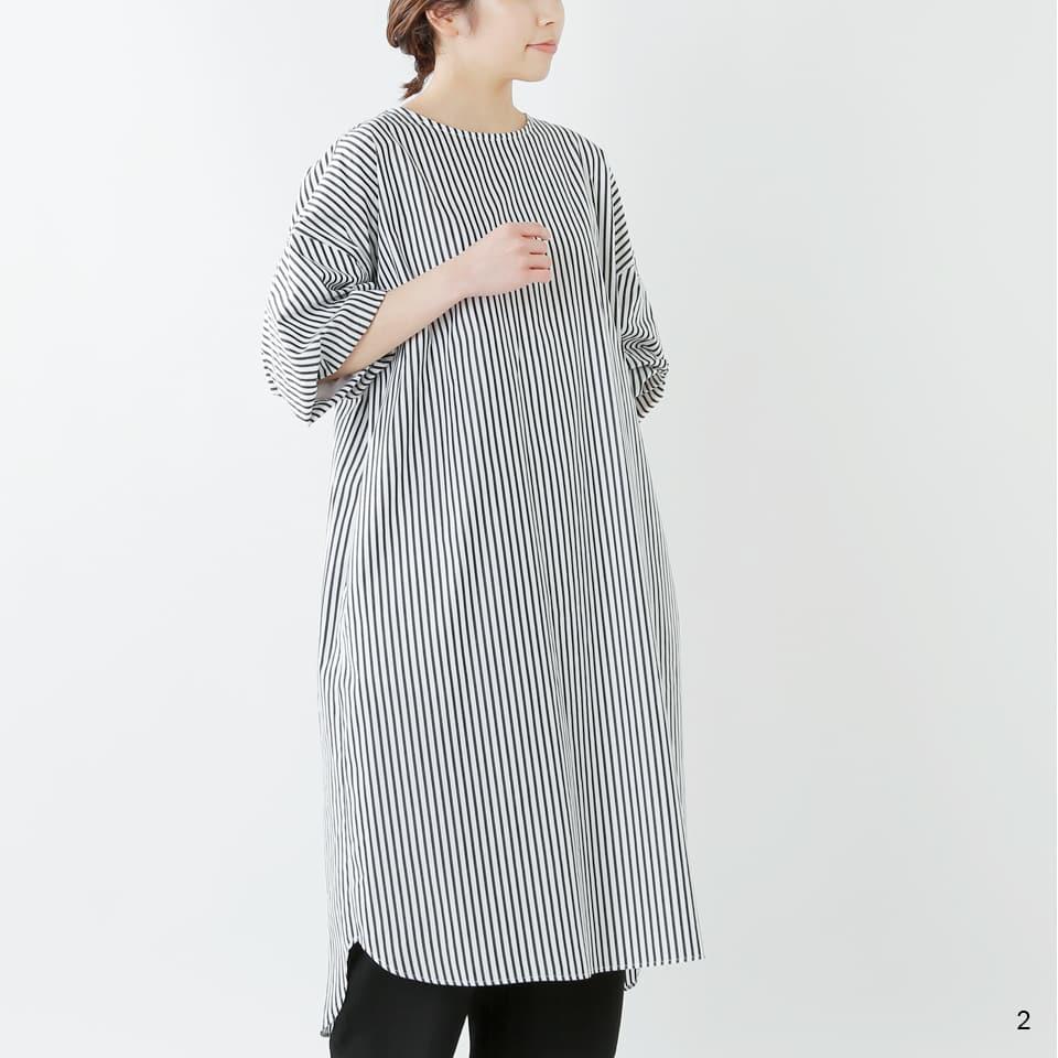 SI-HIRAI プレミアムコットンフルスリーブドレス