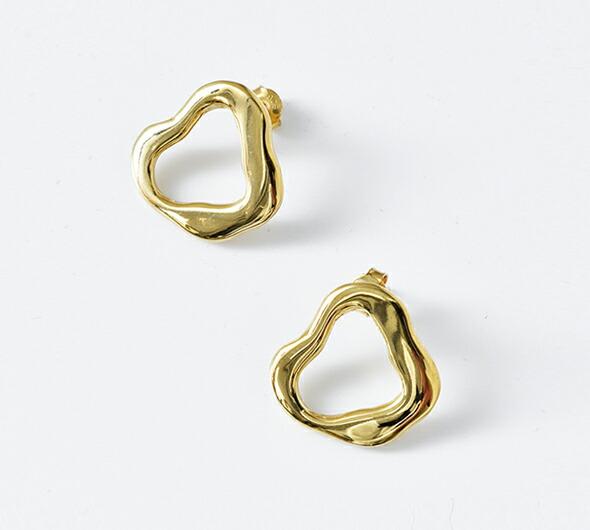 """MERAKI(メラキ)<br>真鍮ピアス""""Organic Brass Earrings S"""" organicbrassearrings-s"""