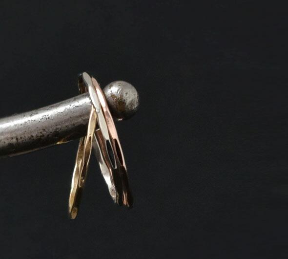 Melissa Joy Manning(メリッサ・ジョイ・マニング)<br>14kt gold stacking rings melissa