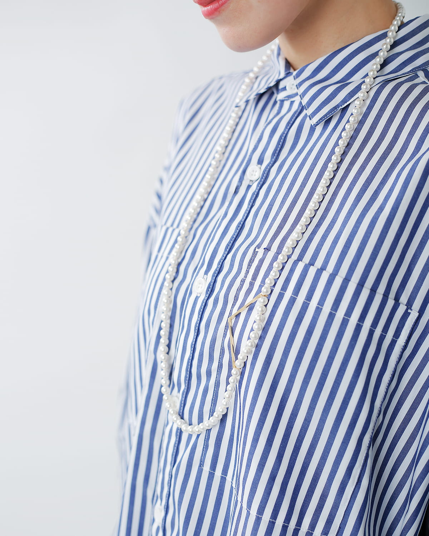 januka(ヤヌカ)ラージサークルパーツ付パールネックレス