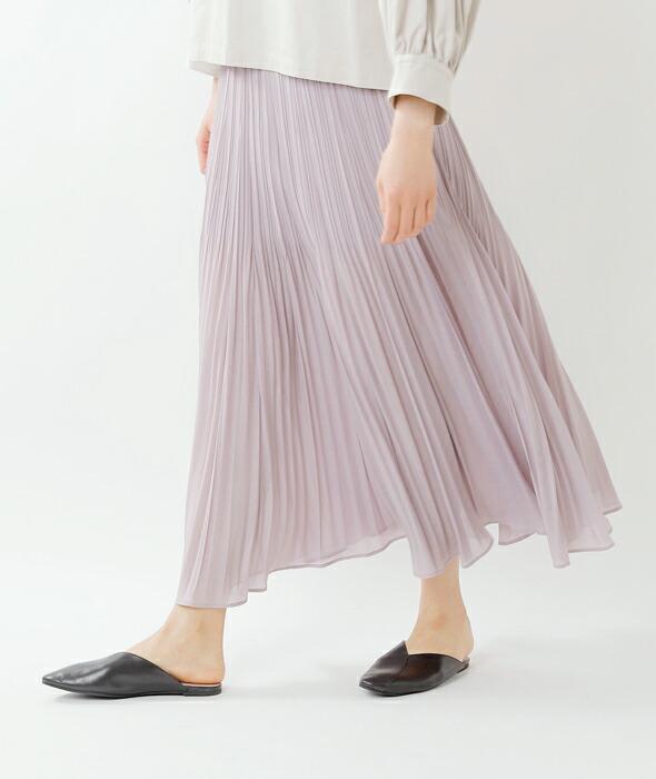 MARECHAL TERRE(マルシャルテル)<br>ウォッシャブルAラインランダムワッシャープリーツスカート