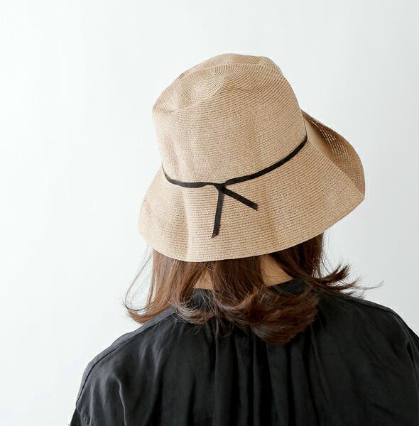 """mature ha.(マチュアーハ)<br>ペーパーブレイドライトハットワイド""""WP paper braid light hat wide"""" mpb1-01w"""