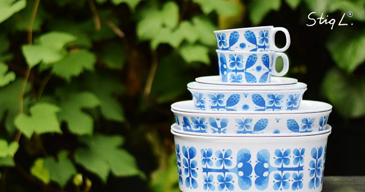 北欧雑貨・ギフトのアルコストア スティグ・リンドベリ Stig Lindberg メラミン食器 グスタフスベリ復刻版 BLUES ブルー