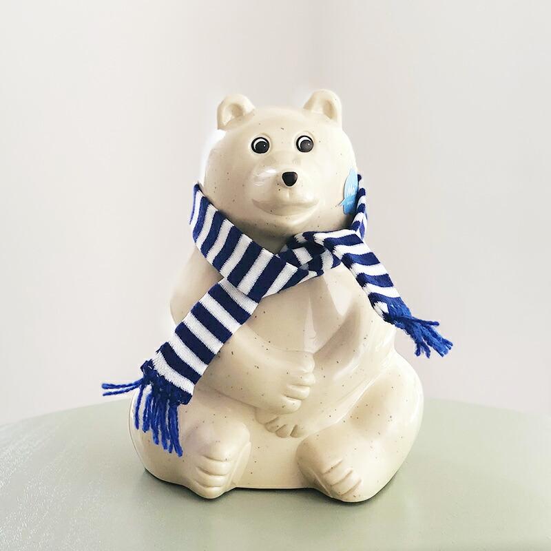 北欧雑貨 しろくま シロクマ 貯金箱 フィンランド銀行