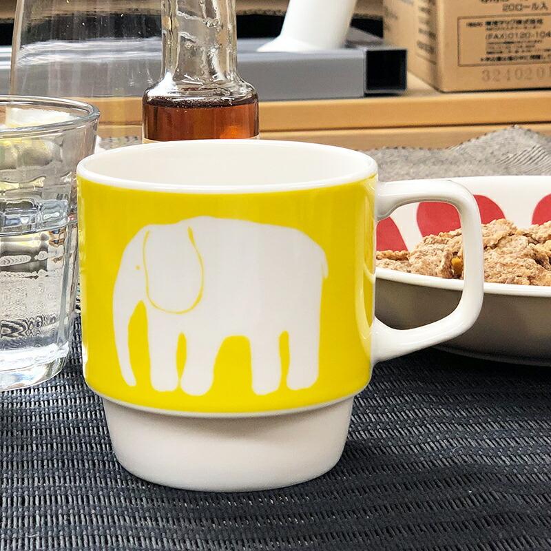 大阪の北欧雑貨アルコストア 北欧デザイン フィンレイソン Finlayson エレファンティ ELEFANTTI ぞう マグカップ コップ