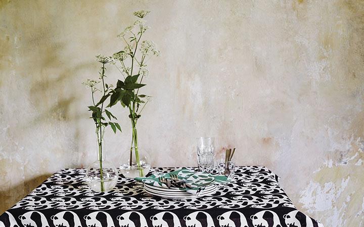 北欧雑貨・ギフトのアルコストア 北欧デザイン てぬぐい クロス 布 生地 コットン 綿 風呂敷 ハンカチ エコ