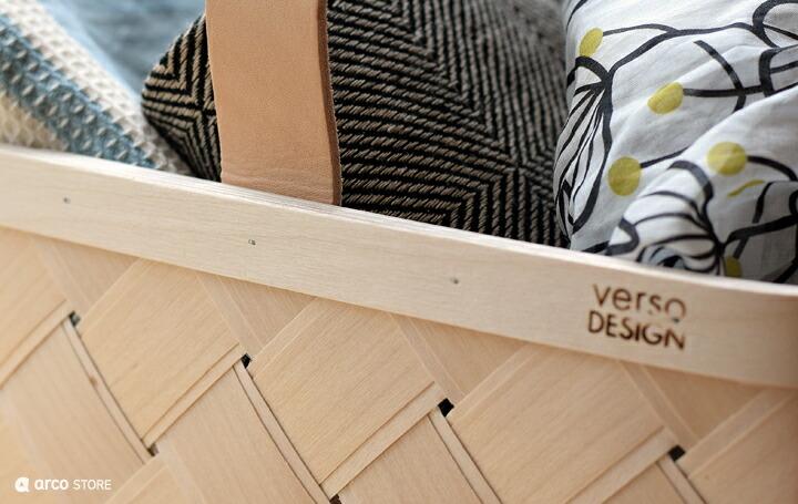 北欧雑貨のアルコストア 北欧デザインの白樺バスケット ベルソデザイン Verso Design
