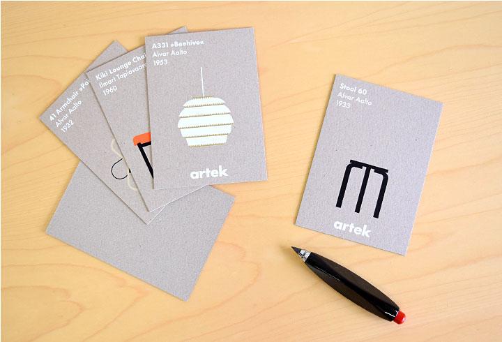 北欧雑貨 artek カードセット 5枚 abcコレクション