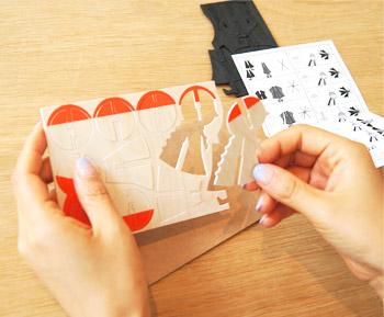 Lovi オーナメントカード リトルミイ:ばらしたらこんな感じ 北欧雑貨