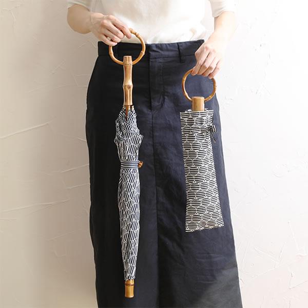SUR MER シルクプリント刺繍 長傘/折りたたみ傘