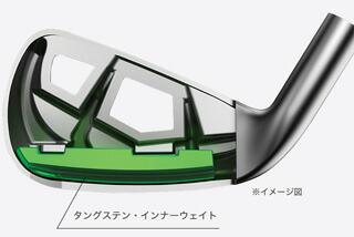 重心の位置を最適化するタングステン・インナーウェイト