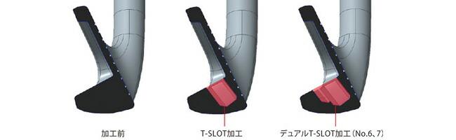 革新のデュアルT-SLOT加工(#6、#7)