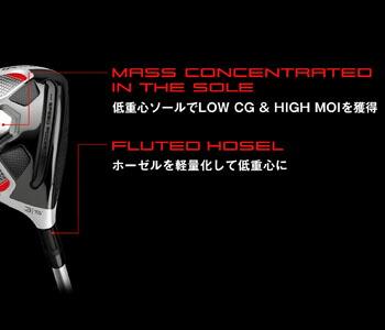 軽量化・低重心化、M6専用設計シャフト