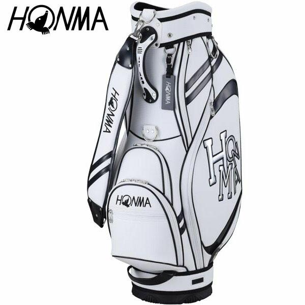 [2020年モデル] 本間ゴルフ メンズ ダンシングホンマ ロゴ キャディバッグ CB-12015 WH/BK ホワイト/ブラック