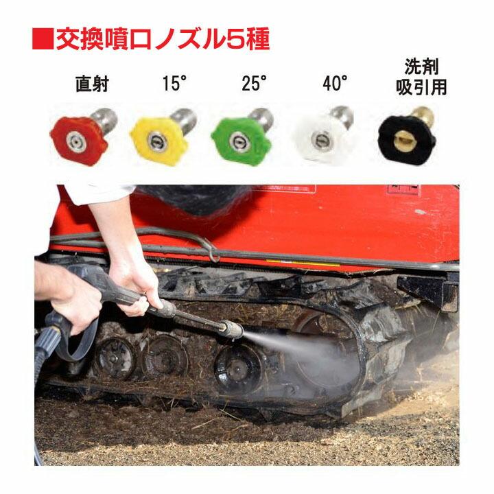 【高圧洗浄機洗車農業用エンジン式高圧洗浄機工進】