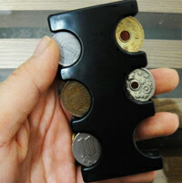 コインケース 携帯ホルダー「コインホーム」オレンジ(MG-01)、グリーン(MG-02)、ブラック(MG-03)人工スエード様ケースセット