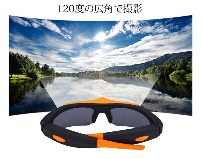 スポーツサングラス型カメラ