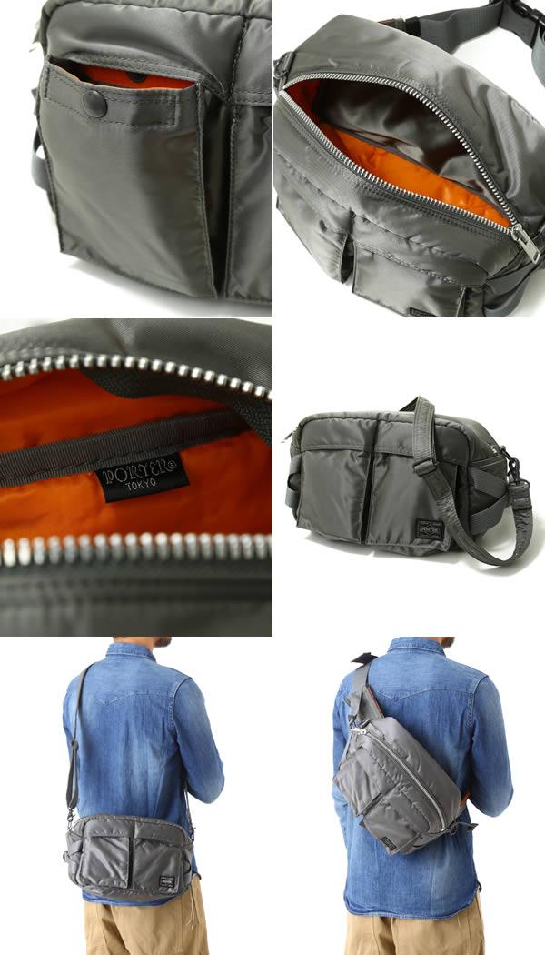 c106910032 Yoshida Kaban PORTER (Porter) tanker TANKER 2WAY waist bag (tanker waist  bag bag shoulder bag 2-WAY) 622-08302-silgry Yoshida bags