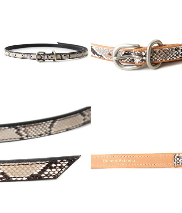 全2色 [エンダースキーマ] (パイソンテイルベルト ベルト) fl-rc-tlb【BJB】 / 【期間限定!全品ポイント10倍】 Hender Scheme python tail belt /