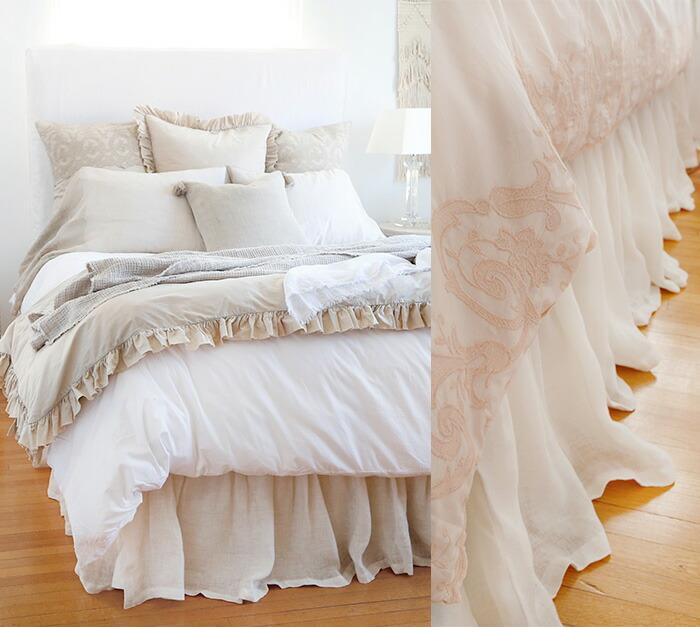 リネンボイルベッドスカート