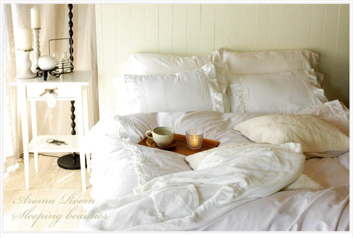 シャビーホワイトフリル ベッドカバーセット