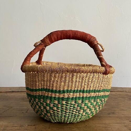 ブルキナバスケット 30cm 緑