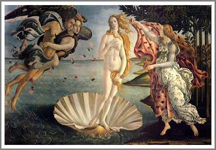 絵画(油絵複製画)制作 サンドロ・ボッティチェッリ「ヴィーナスの誕生」