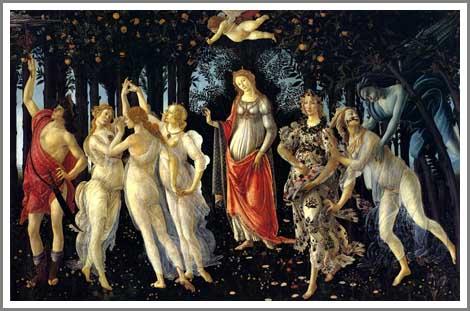 絵画(油絵複製画)制作 サンドロ・ボッティチェリ「春(プリマベーラ)」